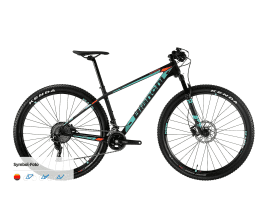 Bianchi Nitron 9.3 - NX Eagle 1x12sp 38 cm | 8N - black/CK16/orange fluo full glossy