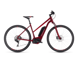 CUBE Cross Hybrid Pro 400 Trapez | 46 cm | darkred´n´red
