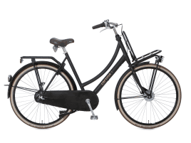 Cortina U4 Transport Zweirohr | 50 cm | Jet Black matt | Shimano Nexus 3-Gang