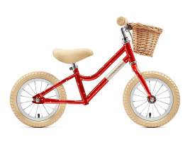 Creme Cycles Mia 12″ Push-Bike Red Polka