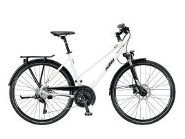 KTM Veneto Light Disc Damen | 56 cm | white-matt (black+red)