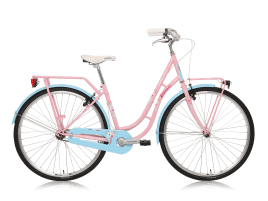 Legnano L251/ FENICOTTERO LADY 28″ STEEL - 1V PINK/LIGHT BLUE