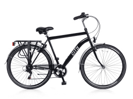 Popal City 6 SPEED Herren | 49 cm | Schwarz
