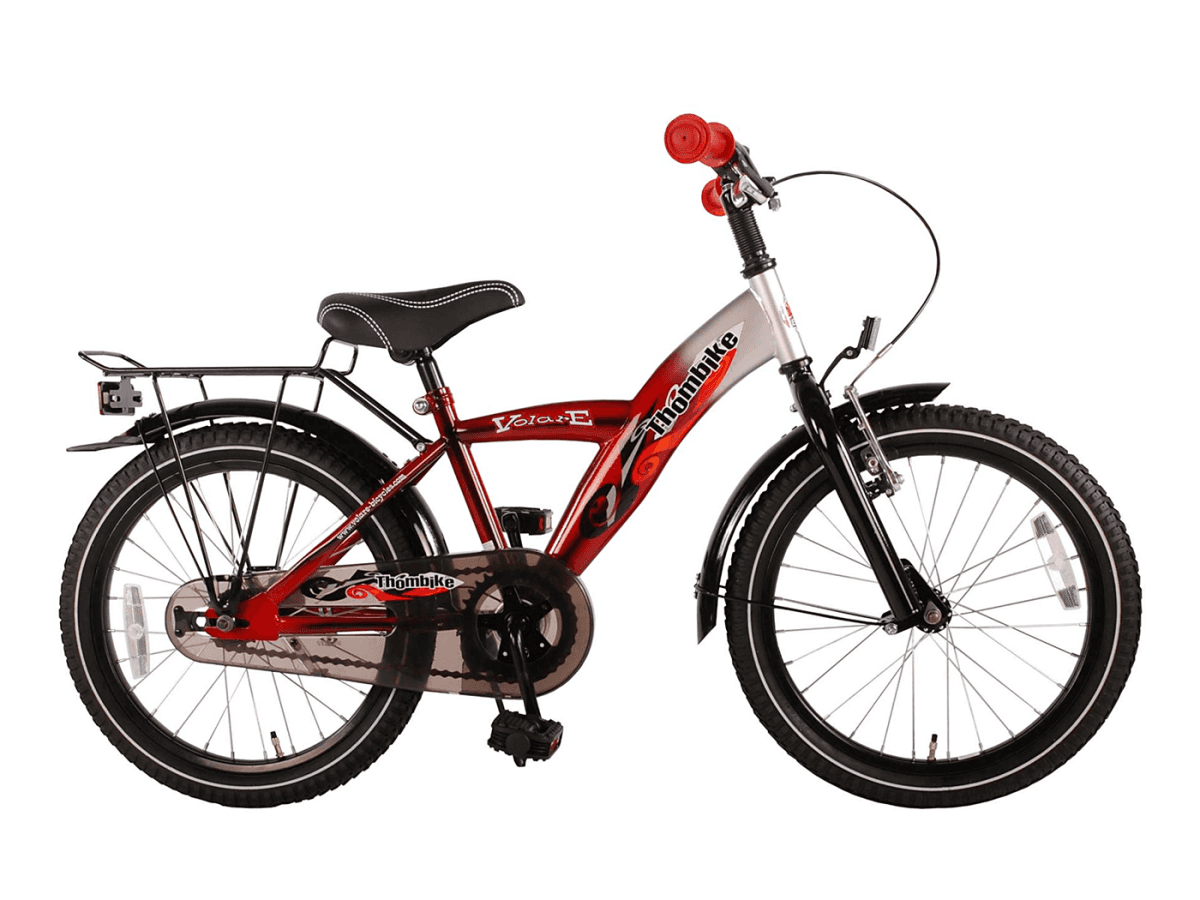 volare thombike kinderfahrrad 18 zoll rot silber. Black Bedroom Furniture Sets. Home Design Ideas